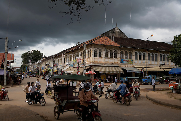 Life on the street at Siem Reap, Cambodia