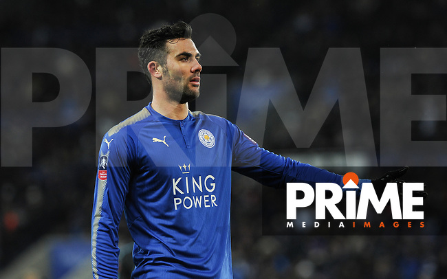 Vicente Iborra of Leicester City during the FA Cup QF match between Leicester City and Chelsea at the King Power Stadium, Leicester, England on 18 March 2018. Photo by Stephen Buckley / PRiME Media Images.