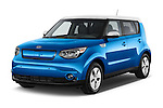 2015 KIA Soul EV Base 5 Door Wagon Angular Front stock photos of front three quarter view