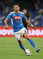 12th July 2020; Stadio San Paolo, Naples, Campania, Italy; Serie A Football, Napoli versus AC Milan; Fabian Ruiz of Napoli turns and breaks forward on the ball