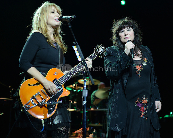 HOLLYWOOD FL - NOVEMBER 4 :  Nancy Wilson and Ann Wilson of Heart perform at Hard Rock live held at the Seminole Hard Rock hotel & Casino on November 4, 2012 in Hollywood, Florida.  Credit: mpi04/MediaPunch Inc.