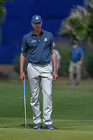 Matt Kuchar (USA) looks over his putt on 17 during Round 2 of the Zurich Classic of New Orl, TPC Louisiana, Avondale, Louisiana, USA. 4/27/2018.<br /> Picture: Golffile | Ken Murray<br /> <br /> <br /> All photo usage must carry mandatory copyright credit (&copy; Golffile | Ken Murray)
