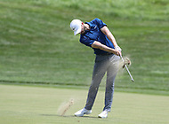 Potomac, MD - June 30, 2018: Kyle Stanley (USA) hits the second shot during Round 3 at the Quicken Loans National Tournament at TPC Potomac in Potomac, MD, June 30, 2018.  (Photo by Elliott Brown/Media Images International)