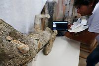 Pompei 86 calchi sono sottoposti ad un intervento di recupero e restauro e studio per poter ricavare profili antropologici e genetici e tra due uomini l'abbraccio  di Pompei<br /> esame DNA sui calchi ha stabilito che u calchi appartenevano a due uomini non parenti tra di loro