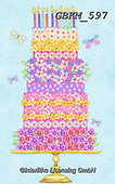 Kate, CHILDREN BOOKS, BIRTHDAY, GEBURTSTAG, CUMPLEAÑOS, paintings+++++Floral cake 3.,GBKM597,#bi#, EVERYDAY