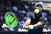 8th January 2018, ASB Tennis Centre, Auckland, New Zealand; ASB Classic, ATP Mens Tennis;  Donald Young (USA) during the ASB Classic ATP Men's Tournament Day 1