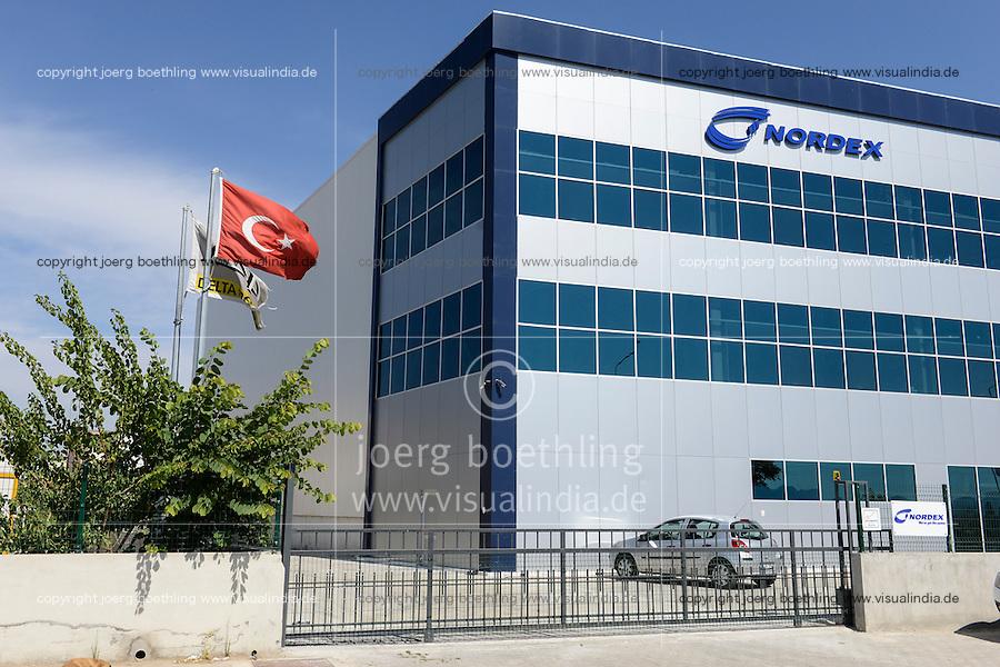 TURKEY Izmir, service point of Nordex wind energy, store  / TUERKEI Izmir, Service Betrieb von Nordex Tuerkei, Lager