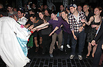 Aaron J. Albano with Ben Fankhauser, Tommy Bracco, Alex Wong, Andy Richardson, Kara Lindsay, Jeremy Jordan & Company.attending the Actors' Equity Broadway Opening Night Gypsy Robe Ceremony for Aaron J. Albano in.'Newsies - The Musical' at the Nederlander Theatre in NewYork City on 3/29/2012