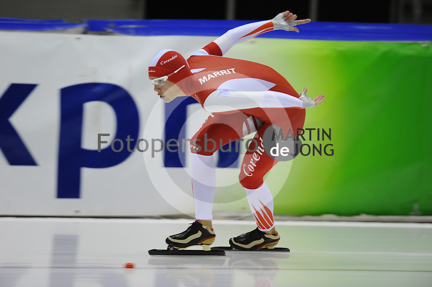 SCHAATSEN: HEERENVEEN: 18-10-2013, IJsstadion Thialf, Trainingswedstrijd, Marrit Leenstra, ©foto Martin de Jong