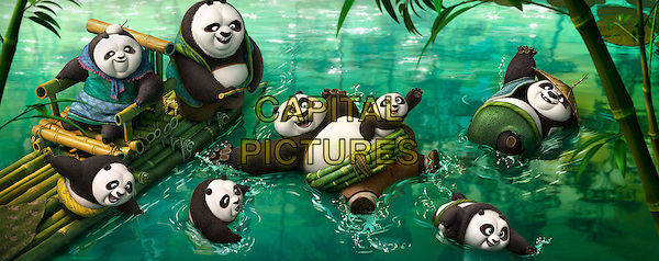 Po (voiced by Jack Black) frolicking in the panda village's hot spring<br /> in Kung Fu Panda 3 (2016) <br /> *Filmstill - Editorial Use Only*<br /> CAP/FB<br /> Image supplied by Capital Pictures