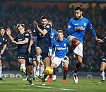 27.02.2019: Rangers v Dundee: Connor Goldson with Paul McGowan and Ryan McGowan
