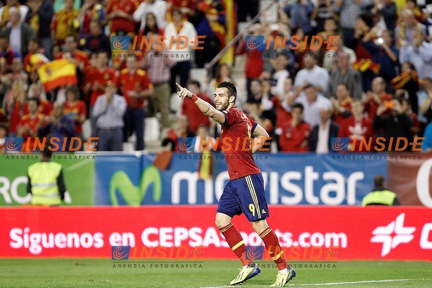 Spain's Alvaro Negredo celebrates goal during international match of the qualifiers for the FIFA World Cup Brazil 2014.October 15,2013.(ALTERPHOTOS/Acero) <br /> Albacete 15/10/2013 <br /> Football Calcio 2013/2014<br /> Qualificazioni Mondiali 2014 <br /> Spagna - Georgia <br /> Foto Insidefoto <br /> ITALY ONLY