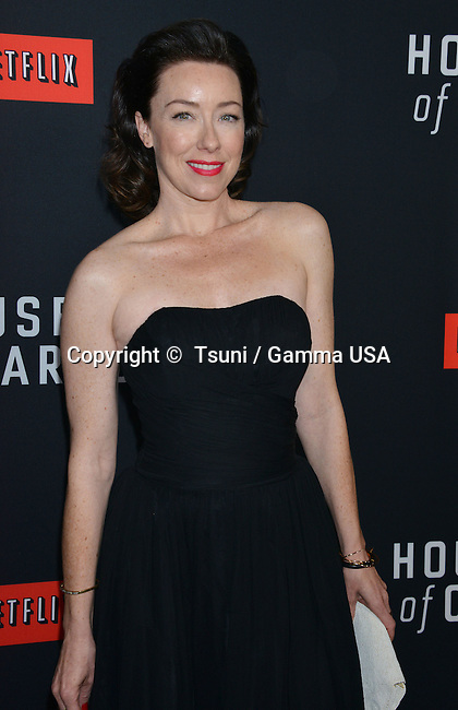Molly Parker arriving at The House Of Cards Premiere at the DGA Theatre in Los Angeles.