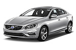 2018 Volvo S60 R-Design 4 Door Sedan Angular Front stock photos of front three quarter view
