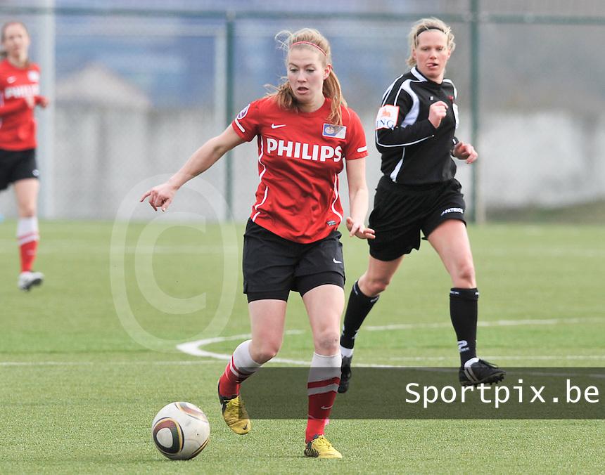 RSC Anderlecht Dames - PSV / FC Eindhoven : Mauri van de Wetering .foto David Catry / Vrouwenteam.be
