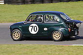 A 1959 Fiat Abarth racing at the Fall Classic Vintage event at Circuit Mont-Tremblant in Quebec