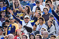 Boca Juniors fans in action. The LA Galaxy defeated Boca Juniors 1-0 at Home Depot Center stadium in Carson, California on Sunday May 23, 2010.  .
