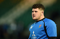 Alfie Barbeary of England U20 looks on during the pre-match warm-up. U20 Six Nations match, between England U20 and Scotland U20 on March 15, 2019 at Franklin's Gardens in Northampton, England. Photo by: Patrick Khachfe / JMP