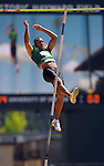 Ashton Eaton clears the bar in the pole vault in the men's decathlon at the U.S. Outdoor Track and Field Championships in Eugene, Oregon June 24, 2011.  REUTERS/Steve Dykes (UNITED STATES)