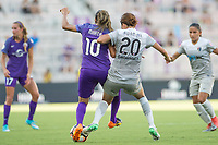 Orlando, FL - Sunday May 14, 2017: Marta, Yuri Kawamura during a regular season National Women's Soccer League (NWSL) match between the Orlando Pride and the North Carolina Courage at Orlando City Stadium.