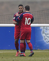 Quincy Amarikwa of Chicago Fire celebrates his goal with Shaun Maloney of Chicago Fire