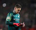 Dejected Ederson of Manchester City after his throw out mistake led to the second goal  during the Premier League match at Old Trafford, Manchester. Picture date: 8th March 2020. Picture credit should read: Darren Staples/Sportimage