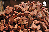 Pile of red bricks in construction site (Licence this image exclusively with Getty: http://www.gettyimages.com/detail/97538472 )