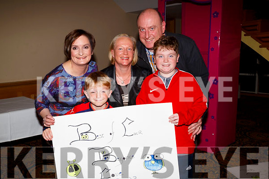 Showing their support for Beyonce at the Bon Secour SYNC'It for Sudan in Barandon Hotel,Tralee on Saturday night, Front James and Mark Riordan,Back Geraldine Valerie and John Riordan.