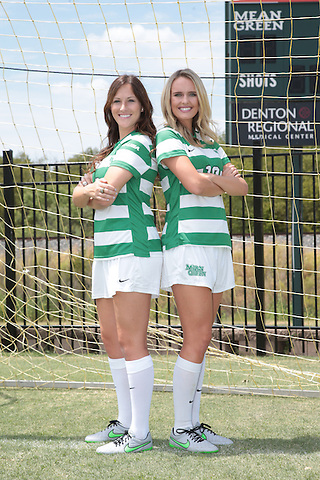 DENTON, TX - AUGUST 18: North Texas Soccer Media Day at Mean Green Village Soccer Field in Denton on August 18, 2015 in Denton, Texas. (Photo by Rick Yeatts)