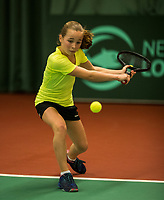 The Hague, The Netherlands, March 17, 2017,  De Rhijenhof, NOJK 14/18 years, Sarah van Emst (NED)<br /> Photo: Tennisimages/Henk Koster