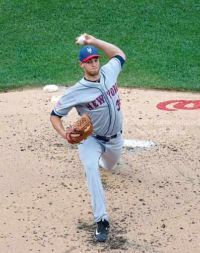 New York Mets starting pitcher Steven Matz (32) works in the second inning against the Washington Nationals at Nationals Park in Washington, D.C. on Monday, July 3, 2017.<br /> Credit: Ron Sachs / CNP<br /> (RESTRICTION: NO New York or New Jersey Newspapers or newspapers within a 75 mile radius of New York City)