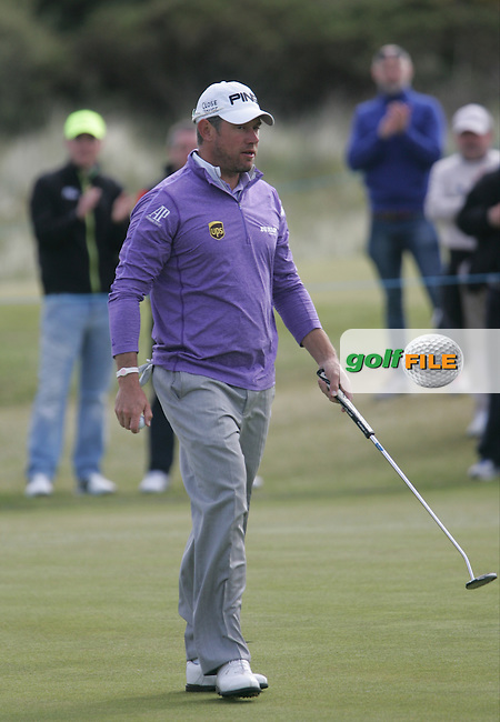 LEE WESTWOOD (ENG) on the 1st green during round 3 of the 2015 Dubai Duty Free Irish Open hosted by the Rory Foundation, Royal County Down Golf Club, Newcastle Co Down, Northern Ireland. 30/05/2015<br /> Picture TJ Caffrey, www.golffile.ie