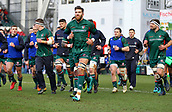 6th January 2018, Welford Road Stadium, Leicester, England; Aviva Premiership rugby, Leicester Tigers versus London Irish; Graham Kitchener and the Tigers team  warming up before the game
