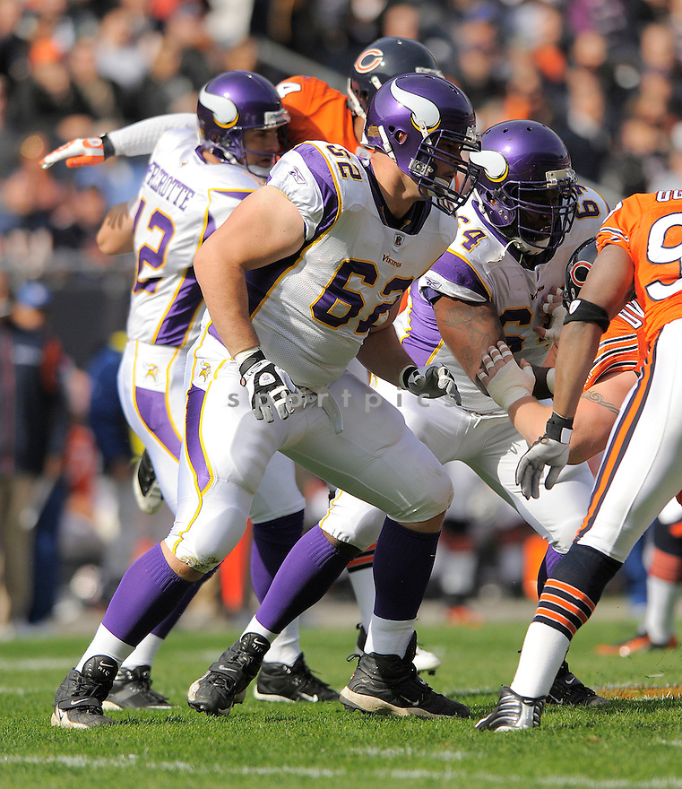RYAN COOK, of the Minnesota Vikings  in action against the Chicago Bears during the Vikings game in Chicago, IL  on October 19, 2008... The Buccaneers won the game 48-41