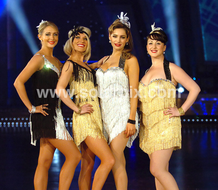 **ALL ROUND PICTURES FROM SOLARPIX.COM**.**WORLDWIDE SYNDICATION RIGHTS**.Strictly Come Dancing Press Call in Manchester Arena..This pic:    Ali Bastion, Zoe Lucker, Kelly Brook & Natalie Cassidy.JOB REF:  10474    SGD     DATE:   15.01.10.**MUST CREDIT SOLARPIX.COM OR DOUBLE FEE WILL BE CHARGED**.**MUST NOTIFY SOLARPIX OF ONLINE USAGE**.**CALL US ON: +34 952 811 768 or LOW RATE FROM UK 0844 617 7637**