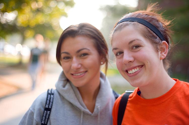19051Campus Shots Fall 2008...Chelsea Simmons & Jenna Banjac
