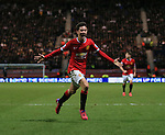 Manchester United's Ander Herrera celebrates scoring his sides opening goal<br /> <br /> FA Cup - Preston North End vs Manchester United  - Deepdale - England - 16th February 2015 - Picture David Klein/Sportimage