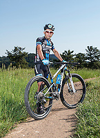 Professional mountain biker Sina Solouksaran near Golden, Colorado, Friday June 24, 2016. Solouksaran, a refugee originally from Iran after being banned from biking due to not being a practicing Muslim, now lives and trains in Golden after living in Turkey for a couple years. <br /> <br /> Photo by Matt Nager