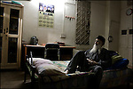 abdul sattar edhi taking a rest in his private sleeping quarters outside his offices