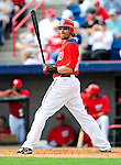 1 March 2011: Washington Nationals' right fielder Jayson Werth in action during a Spring Training game against the New York Mets at Space Coast Stadium in Viera, Florida. The Nationals defeated the Mets 5-3 in Grapefruit League action. Mandatory Credit: Ed Wolfstein Photo