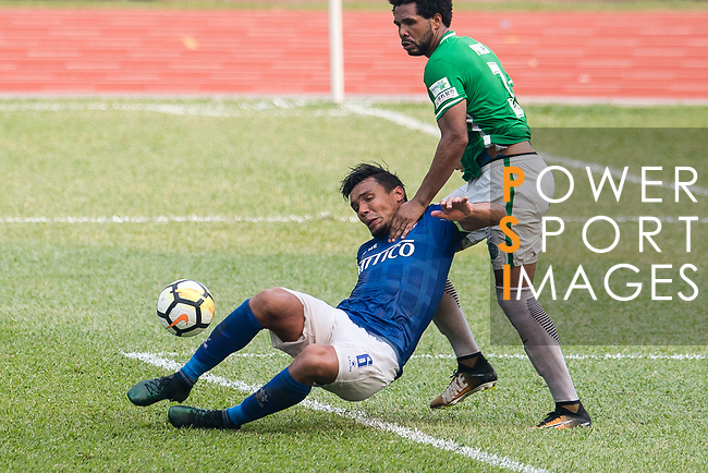 Eduardo Praes of Wofoo Tai Po (R) in action against Clayton Michel Afonso of Rangers (L) during the week three Premier League match between BC Rangers and Wofoo Tai Po at Sham Shui Po Sports Ground on September 17, 2017 in Hong Kong, China. Photo by Marcio Rodrigo Machado / Power Sport Images