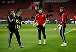 Darren Ward Dean Henderson and Simon Moore of Sheffield Utd during the Premier League match at Bramall Lane, Sheffield. Picture date: 5th December 2019. Picture credit should read: Simon Bellis/Sportimage