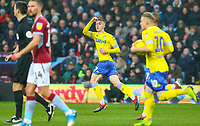Leeds United's Jack Clarke salutes the fans after pulling a goal back<br /> <br /> Photographer Alex Dodd/CameraSport<br /> <br /> The EFL Sky Bet Championship - Aston Villa v Leeds United - Sunday 23rd December 2018 - Villa Park - Birmingham<br /> <br /> World Copyright &copy; 2018 CameraSport. All rights reserved. 43 Linden Ave. Countesthorpe. Leicester. England. LE8 5PG - Tel: +44 (0) 116 277 4147 - admin@camerasport.com - www.camerasport.com