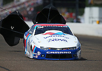 Aug 20, 2016; Brainerd, MN, USA; NHRA pro stock driver Shane Gray during qualifying for the Lucas Oil Nationals at Brainerd International Raceway. Mandatory Credit: Mark J. Rebilas-USA TODAY Sports
