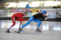 SCHAATSEN: Calgary: Essent ISU World Sprint Speedskating Championships, 26-01-2012, Marianne Timmer, Tonny de Jong-Knoll, ©foto Martin de Jong
