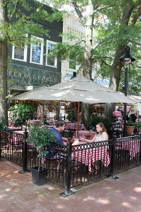 The downtown mall in Charlottesville, Va.