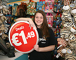Official opening of new Dealz store in Enniscorthy. Store assistant Katie Dawkins. Photo: John Walsh/@Newsfile