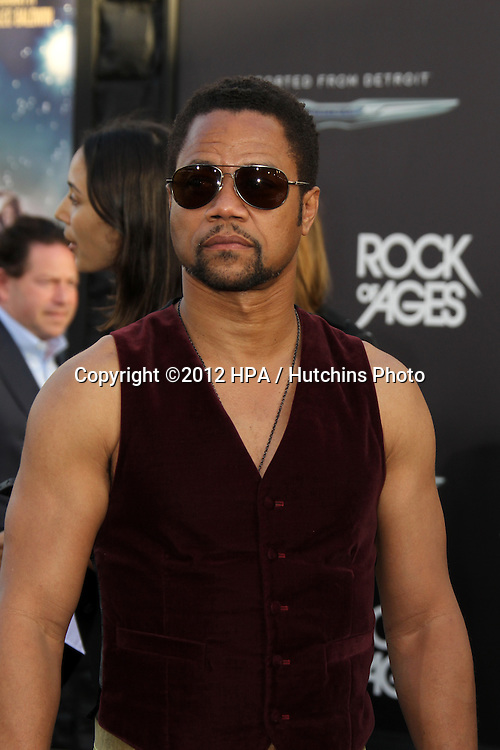 "LOS ANGELES - JUN 8:  Cuba Gooding Jr. arriving at ""Rock of Ages"" World Premiere at Graumans Chinese Theater on June 8, 2012 in Los Angeles, CA"