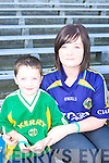 Liam and Leanne O'Sullivan London Kilcummin/Firies connections at the Kerry team training in Fitzgerald Stadium, Killarney on Saturday..