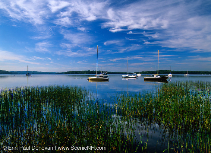 Sailboats in an scenic setting